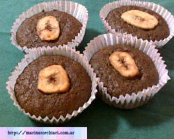 muffins de harina integral y banana