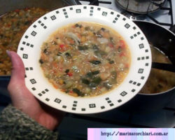 Receta de sopa de verdura puchero