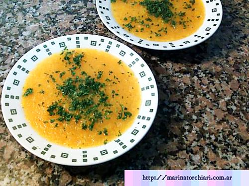 Sopa de calabaza fácil